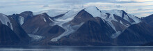 Glacier Carved Mountain Range,...