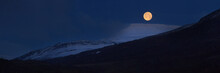 Panorama Of Full Moon Above Sn...