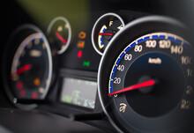 Speedometer On Car Dashboard