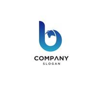 Creative Letter B Bull Logo Design Template