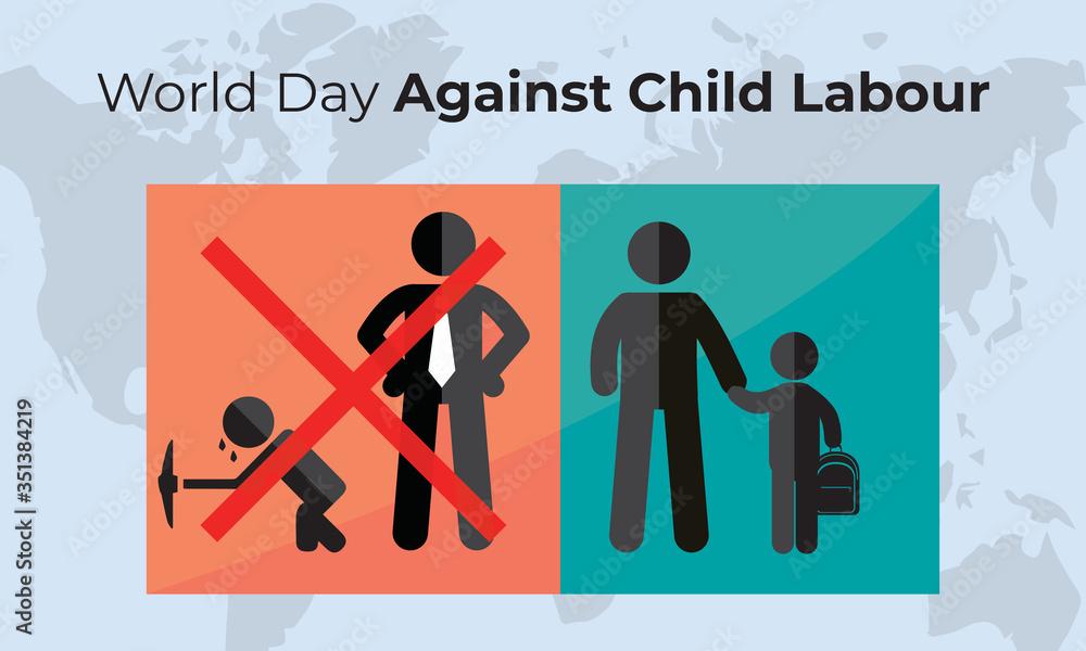 Fototapeta World day against child labour