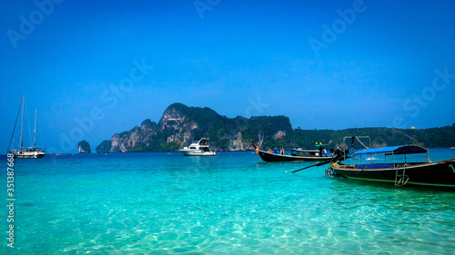 Boats in Ao nang bay, Thailand Slika na platnu