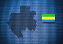 Map And Flag Of Gabon, 3D Illu...