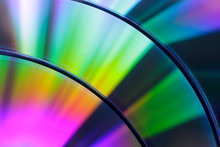 Close-up Of Colorful Compact Discs