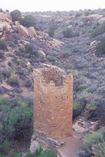 The Square Tower At  Hovenweep National Monument Indian Ruins, UT