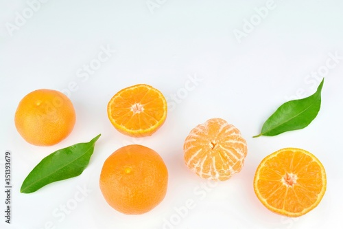 Orange Fruits Against White Background