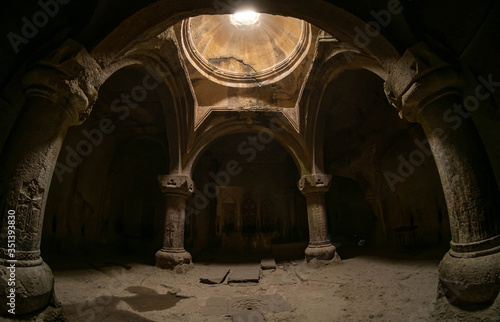 Photo Geghard is a medieval monastery in the Kotayk province of Armenia, being partial
