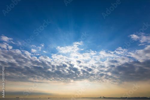 Canvastavla 海の上に現れた天使のはしご