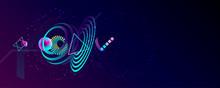 Dark Retro Futuristic Art Neon...
