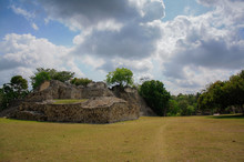 Kohunlich Archaeological Site Of The Pre-Columbian Maya Civilization, Ruins Mexico