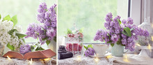 Romantic Style Collage With Li...