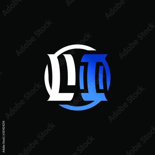Photo Initial Letter LI Circle Logo Design