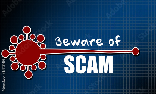 Beware of scam related to Coronavirus Covid-19 Wallpaper Mural