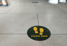 Stand Here Foot Sign Or Symbol...