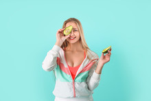 Young Woman With Avocado On Co...