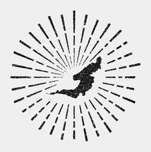 Vintage Map Of Bequia. Grunge ...