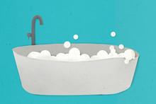 Hot Bath Tub Paper Craft Desig...