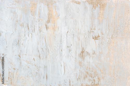 Fotografija White acrylic paint with gold glitter background illustration