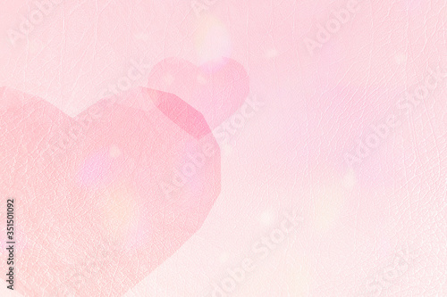 Heart patterned on a pink background Wallpaper Mural