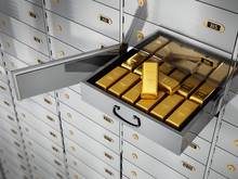 Gold Ingots Inside Private Ban...