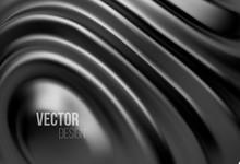 Black Shiny Liquid Waves 3d Re...