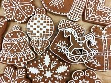 Full Frame Shot Of Gingerbread...