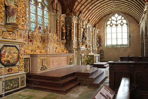 Fototapeta Sainte-Marie-du-Ménez-Hom chapel in Plomodiern (brittany - france)