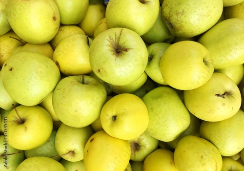 Tableau sur Toile Full Frame Shot Of Granny Smith Apples For Sale