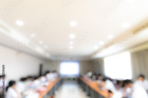 Photo Defocused Image Of People In Auditorium