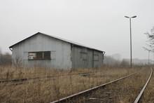 Railroad Closeup. Rails Blurre...