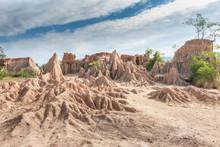 Soil Textures Eroded Sandstone...