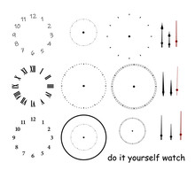 Blank Clock Face With Hour, Mi...