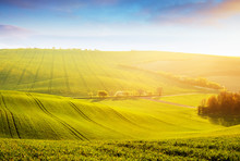 Tranquil Rural Landscape In Su...