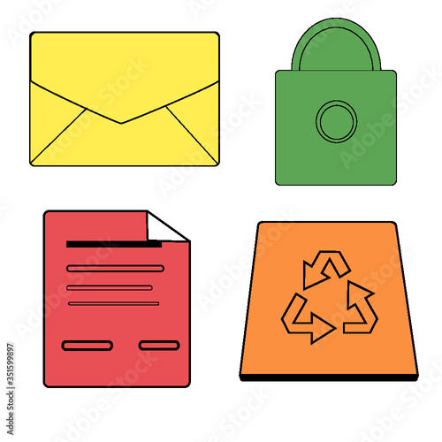 mail icons set - 351599897