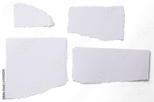 Fototapeta Directly Above Shot Of Papers Against White Background