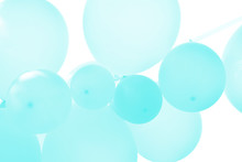 Balloons On Blue Background