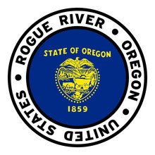 Round Rogue River Oregon United States Flag Clipart