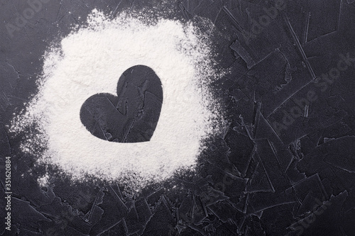 Scattered flour on the table Wallpaper Mural