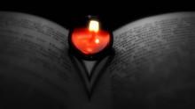 Heart Shape Shadow Made On Book