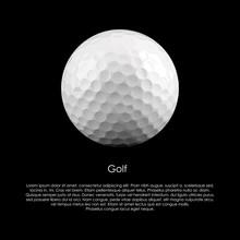 Golf Ball On A Black Backgroun...