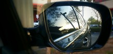 Reflection In Side View Mirror