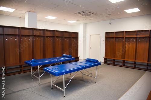 Vászonkép Empty football changing room