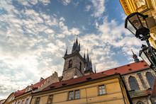 Old Town City Hall Prague In Czech Republic.