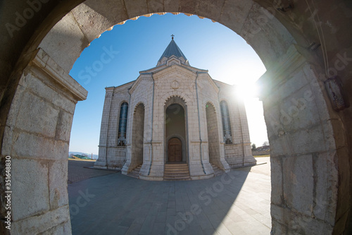 Holy Savior Cathedral commonly referred to as Ghazanchetsots is an Armenian Apos Canvas Print