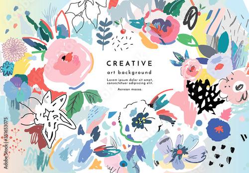 Obraz Floral Background Set - fototapety do salonu