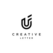 Creative Letter Uf Logo,monogr...