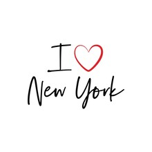 I Love New York Calligraphy Vector Design