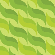 Background With Green Leaves. ...