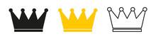 Crown Icon For Web Design. Gol...