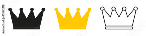 Obraz na plátne Crown icon for web design